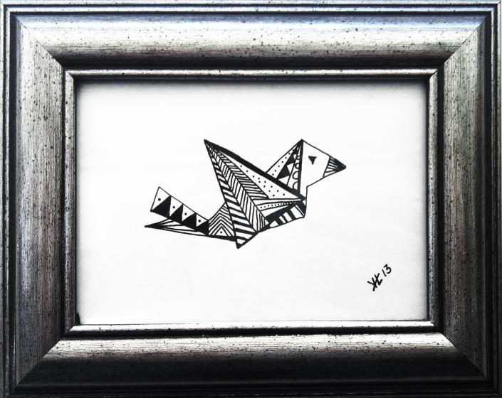 Grafisk tegning - fugl