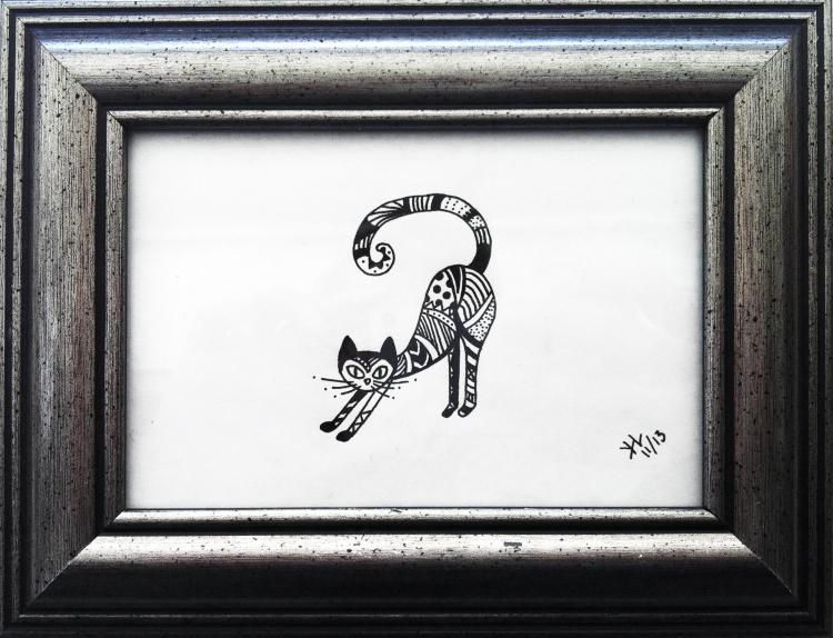 Grafisk tegning - kat
