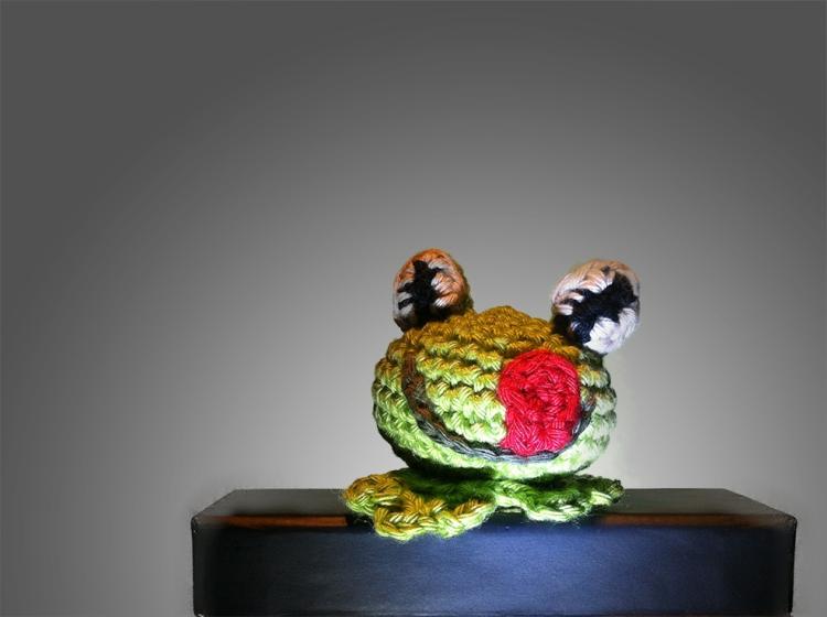 Hæklet mini-frø